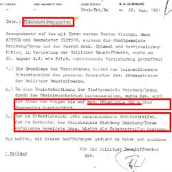 Die Vereinbarung 1981 und die Feststellungsklage.